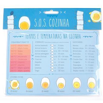 Íman Magnético Day by Day SOS Cozinha - Tempos e Temperaturas