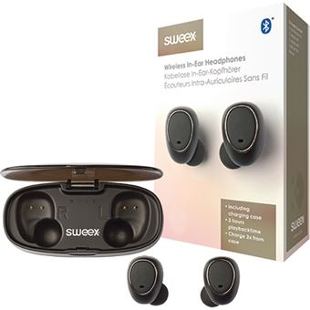 Auriculares Bluetooth True Wireless Sweex SWTWS01B - Preto
