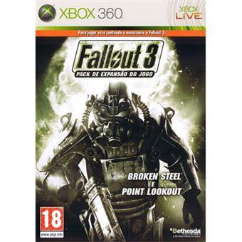 jogo Xbox360 Fallout 3 Broken Steel e Point Lookout (Pack de Expansão