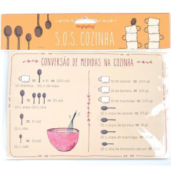 Íman Magnético Day by Day SOS Cozinha - Conversão de Medidas