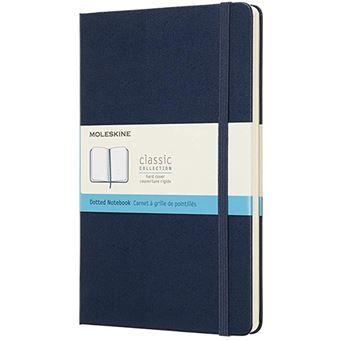 Caderno Pontilhado Moleskine Grande Azul Escuro