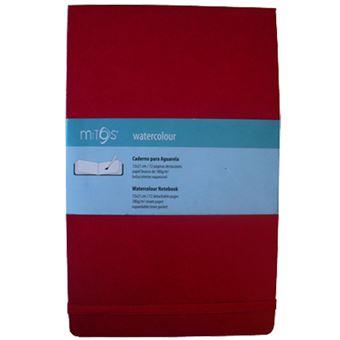 Caderno Liso Mitos Watercolour A5 Vermelho