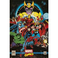 Poster Marvel Comics Infinity Retro
