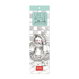 Marcador de Livro com Calendário 2020 Legami - Sketchy Cats