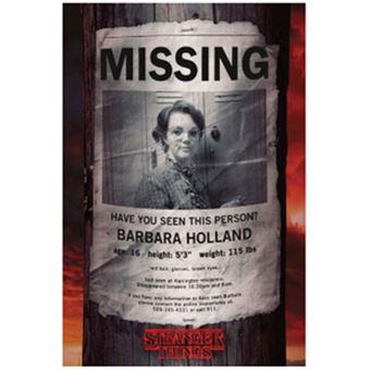 Poster Stranger Things: Barb Missing