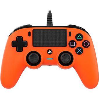 Comando com Fio Nancon para PS4 - Laranja