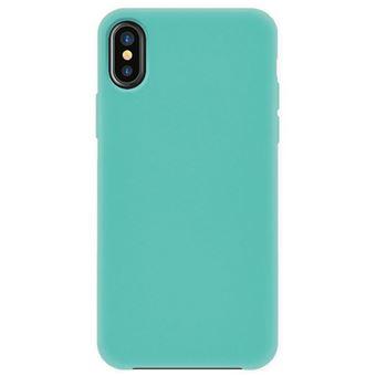 Capa 4-OK Silk Cover para iPhone X/XS - Azul Turquesa