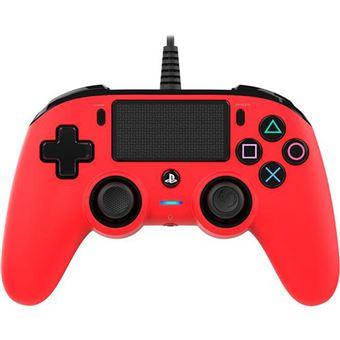 Comando com Fio Nancon para PS4 - Vermelho