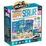 Puzzle Montessori Happy Sea Life - Headu