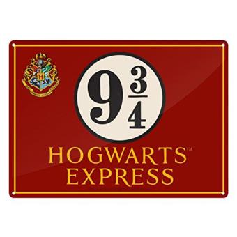 Harry Potter -  Placa Metálica - Hogwarts  (A5)