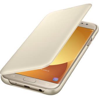 Capa Flip Samsung Wallet para Galaxy J7 2017 - Dourado