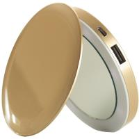 Power Bank Espelho Compacto Pearl 3000mAh - Dourado