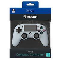 Nacon Comando com Fios Compact - Cinzento - PS4