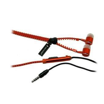 New Mobile Kit Auriculares Stereo c/Microfone Zip Laranja NM3503