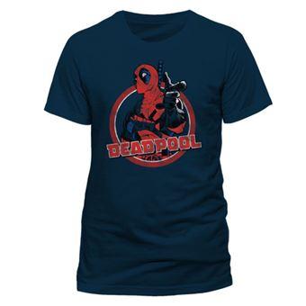 T-Shirt Deadpool: Logo Point - Tamanho M