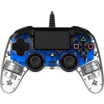 Comando com Fio Nancon para PS4 - Azul | Transparente