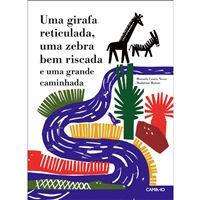 Uma Girafa reticulada, uma Zebra bem riscada e uma grande caminhada