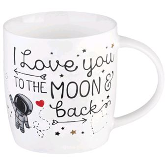 Caneca Aphorism - Love You to the Moon and Back