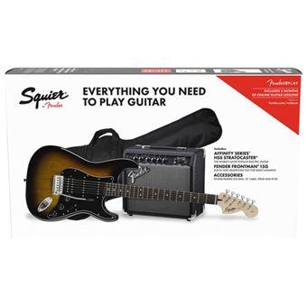 Pack Guitarra Eléctrica Squier Strat HSS BSB GB 15G/