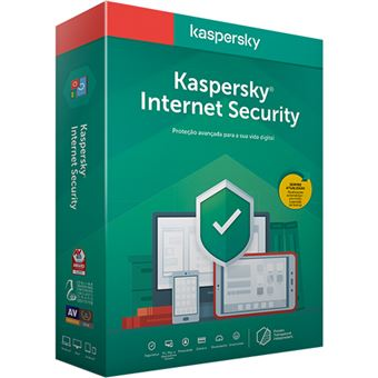 Anti-Virus Kaspersky Internet Security 2020 - 3 Dispositivos | 1 Ano - Upgrade