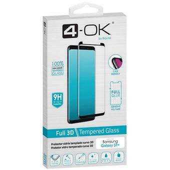 Película Ecrã Vidro Temperado 4-OK Glass FULL 3D 9H para Galaxy S9 Plus