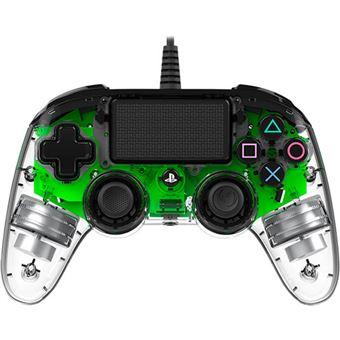 Comando com Fio Nancon para PS4 - Verde | Transparente