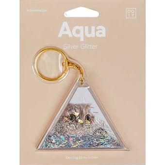Porta-Chaves Doiy Aqua Silver Glitter