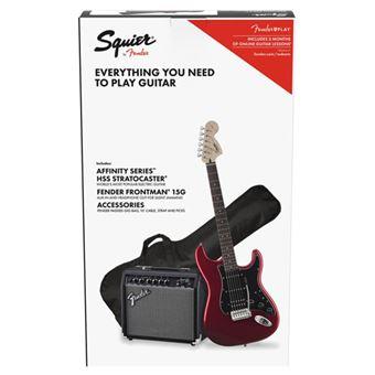 Pack Guitarra Eléctrica Squier Strat HSS CAR GB 15G