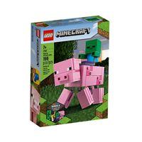 LEGO Minecraft 21157 BigFig Porco com Bebé Zombie
