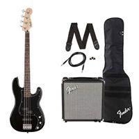 Pack Baixo Eléctrico Squier PJ Bass Black GB Rumble 15
