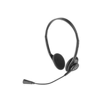 Trust Primo Binaural Fita de cabeça Preto conjunto de auscultadores e microfone