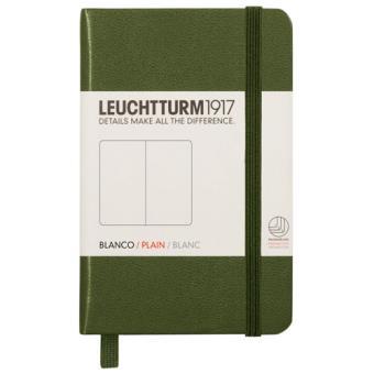 Caderno Liso Leuchtturm A7 Verde Escuro