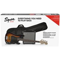 Pack Baixo Eléctrico Squier PJ Bass BSB GB Rumble 15