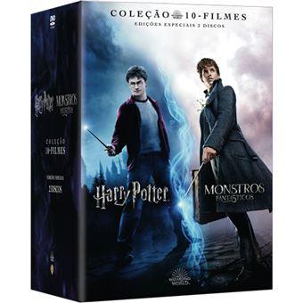 Pack Harry Potter + Monstros Fantásticos - Coleção 10 Filmes - 20DVD