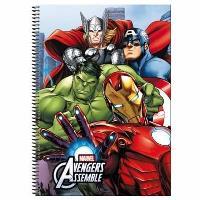Caderno Quadriculado Avengers Alliance A4
