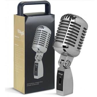 Microfone Profissional Dinâmico Cardióide Vintage Stagg SDM100CR
