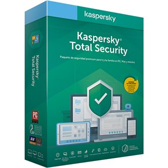 Anti-Virus Kaspersky Total Security 2020 - 3 Dispositivos - 1 Ano