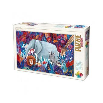 Puzzle 1000 Andrea Kurti Tropical - 1000 Peças - D-Toys (Envio Aleatório)