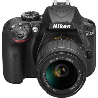 Nikon D3400 + AF-P DX 18-55mm f/3.5-5.6G + Estojo
