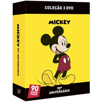 Pack Mickey 90º Aniversário - 3 DVD