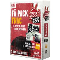 Fã Pack FNAC Super Bock Super Rock 2020 T-Shirt L   Preço: 95€ Pack + 7€ Custos de Operação