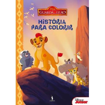 A Guarda do Leão - História para Colorir