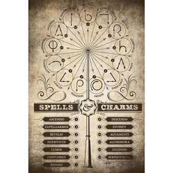 Poster Harry Potter Spells & Charms
