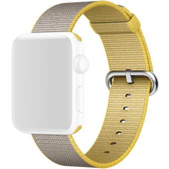 Apple Bracelete Nylon para Apple Watch 42mm (Amarelo/Cinzento Claro)