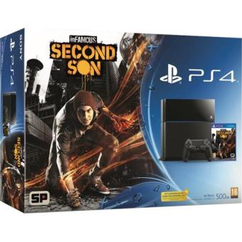 Consola Sony PS4 500GB + inFamous: Second Son