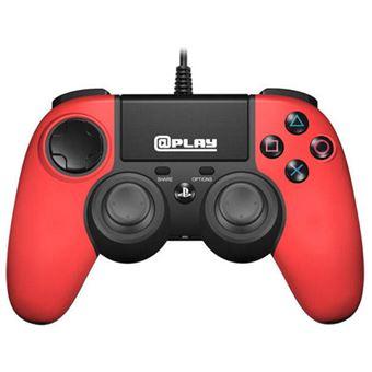 Comando com Fio para PS4 - Vermelho