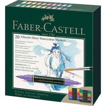 Caixa com 20 Marcadores Aguareláveis Faber-Castell Albrecht Durer - Ponta Dupla