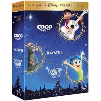 Pack Coco + Ratatui + Divertida-mente - 3 DVD