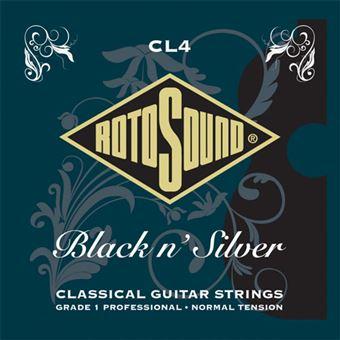 Cordas Guitarra Clássica Rotosound CL4 Black N' Silver