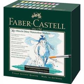 Caixa com 30 Marcadores Aguareláveis Faber-Castell Albrecht Durer - Ponta Dupla